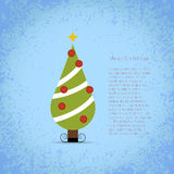 Nice vector christmas tree Stock Image