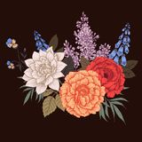 Nice vector flowers Royalty Free Stock Images