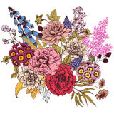 Nice vector flowers Stock Photography