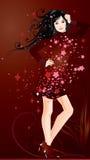 Nice vector girl Royalty Free Stock Photo