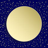 Nice Vector Greeting Card. Nice vector golden round shape with dots and volume circle. Fine greeting card Stock Images
