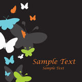 Nice vector template with butterflies Stock Image
