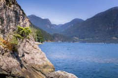 Nice veiw of mountains in the bay Stock Photography