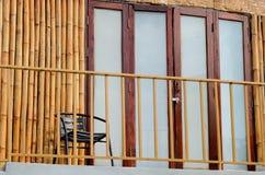 Nice veranda with bamboo wall Stock Photo