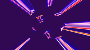 Beautiful abstract video that shines, bright light that arranges subtle colorful movements with waves of stars, black background