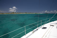 Nice View. A view from a sailboat near a island in the Vieques Sound royalty free stock photography