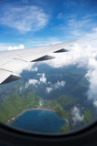 Nice view from airplane window Stock Photo