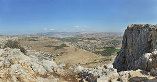 Nice view from Arbel mountain. In Israel Stock Images