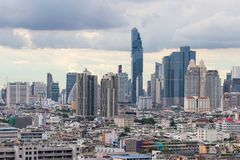Bangkok by day with clouds stock photography