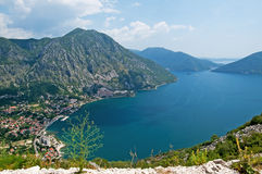 Nice view of bay, Montenegro Stock Images