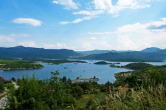 Nice view of bay, Montenegro stock photo