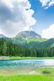 Nice view of blue lake and mountains Royalty Free Stock Photography