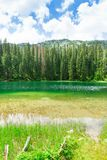 Nice view of blue lake and mountains Royalty Free Stock Image