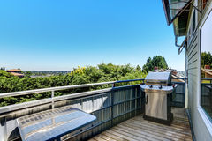 Nice view with blue sky from house balcony Stock Photography