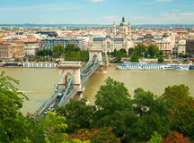 Nice view on Budapest Royalty Free Stock Photography