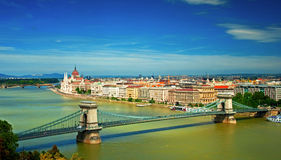 Nice view on Budapest Royalty Free Stock Images