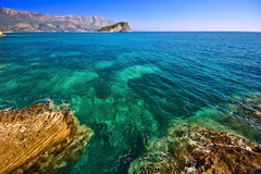 Nice view of Budva. It is photographed in Montenegro in September 2007. The city of Budva. Adriatic sea Stock Photo