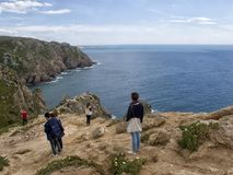 Nice view of of Cape Roca, Portugal. Royalty Free Stock Photos