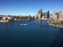 A nice view of CBD Sydney. A view from Harbour bridge Stock Images