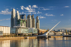 Nice view of the cityscape. Puente de la Mujer. Royalty Free Stock Image