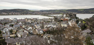 A nice view of Conwy castle Royalty Free Stock Photography