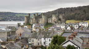 A nice view of Conwy castle Stock Photo