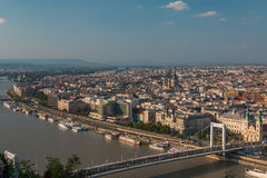 Nice view of Danube and city of Budapest Hungary Royalty Free Stock Images