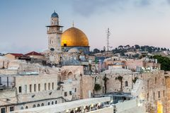 Nice view of the Dome of the Rock royalty free stock photography