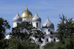 Nice view of the dome of St. Sophia Cathedral. Nice view of the dome of St. Sophia Cathedral Royalty Free Stock Images
