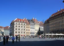 Nice view of  Dresden, Germany Royalty Free Stock Photography
