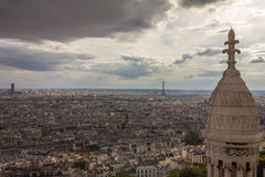 Nice view of Eiffel Tower in Paris from sacre coeur Royalty Free Stock Photography