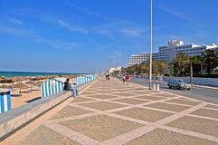 Nice view of the embankment in Sousse, Tunisia Stock Photos