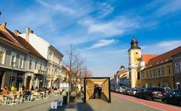 Nice view of Eroilor Avenue, Cluj-Napoca, Transylvania stock image