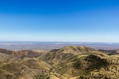 nice view at the flinders range national park from the dutchman star lookout stock image