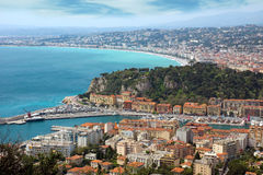 Nice - view from Fort du Mont Alban Stock Image