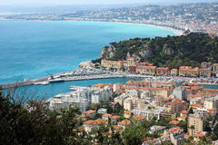 Nice - view from Fort du Mont Alban Stock Images