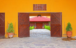 Nice view of gate to the building in Antalya, Turkey Stock Image