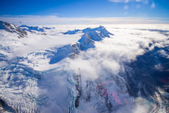 Nice view of Grossglockner peak and glacier from KaiserFranz Josef Glacier National Park, in New Zealand in the Austrian. Alps stock photography
