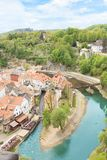 Nice view of the historic center of Cesky Krumlov, Czech Republic. On a sunny day Stock Photography