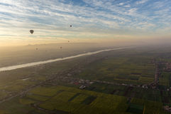A nice view from hot air balloon in Luxor Egypt Stock Photo