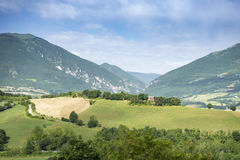 Nice view in Italy Marche near Camerino Royalty Free Stock Images