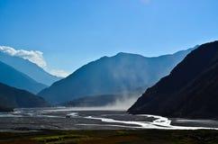Nice view from Kagbeni. Farm and mountain view from kagbeni Nepal Stock Photos