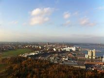 Nice view from Kaknästornet in Stockholm, Sweden. stock image