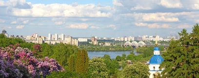 Nice view of Kiev Stock Photo