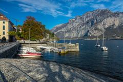View of lecco. A nice view of Lecco city from Malgrate, On the Lake of Como. November 2017 royalty free stock images