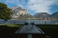 View of lecco. A nice view of Lecco city from Malgrate, On the Lake of Como.October 2017 royalty free stock images