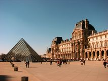 A nice view of Louvre Museum, Paris Stock Images
