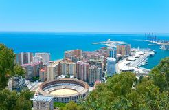Nice view of Malaga. Stock Images