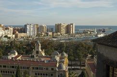 Nice view of the Malaga marina Royalty Free Stock Photo