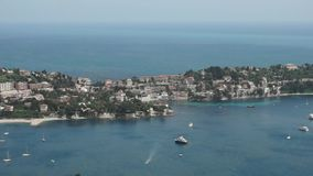 Nice - View of Mediterranean sea from above stock footage